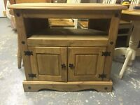 Mexican pine TV cabinets