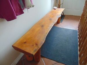 Pine Bench 2 3/4 inch thick and 7 feet long.