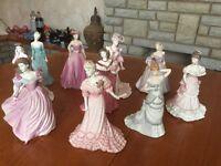 10 Coalport figurines in beautiful condition