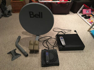 Bell Satellite Package (HD 9241 PVR receiver, SD receiver, Dish)