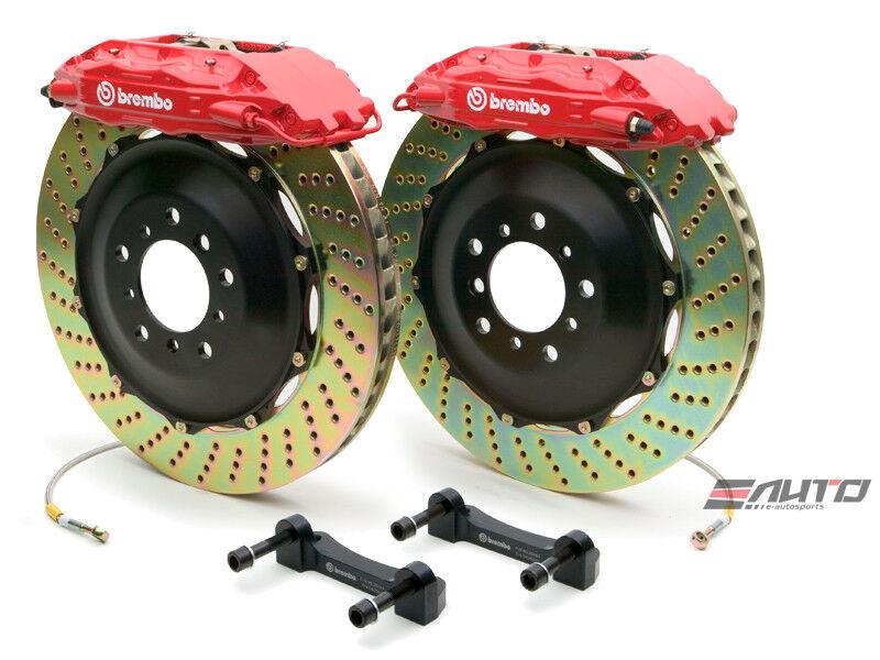 Brembo Front GT Brake 4Pot Red 355x32 Drill for Impreza WRX 08-14 Legacy 10-14