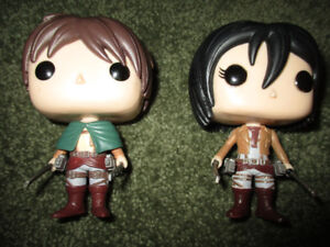 Funko Pop set of two figures Attack on Titan
