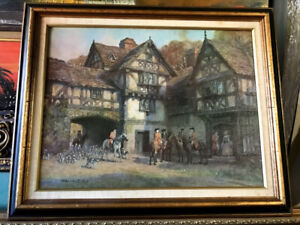 antique style middle century painting 