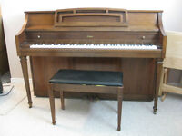 Apartment size Conn piano and bench MAKE OFFER - MOVING SALE