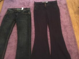 Nine pairs of jeans