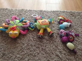 Selection of baby learning toys