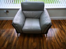 Leather sofa seat