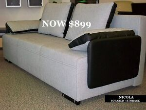 3 IN 1 SOFA BEDS. SOFA+BED+STORAGE. PRICE: $799 - $899