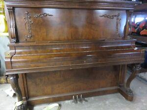 Gourlay Upright Grand Piano Professionally Tuned, Re-keyed, Wood