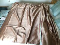 Pair of bronze curtains