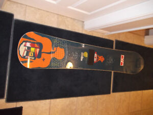 Snow board, boots, bindings, etc.