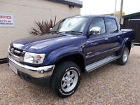 TOYOTA HILUX 2.5 DIESEL 4X4 CREW CAB INVINCIBLE PICK UP ONLY 71K FULL LEATHER