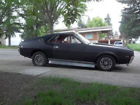 1968 390 amx muscle car #'s matching