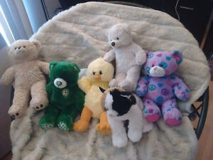 LOTS of plushies and build a bear