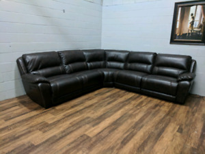 (Free Delivery) - Santorini 5-Piece Sectional w/ power recliners