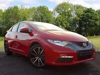 Honda Civic 1.8 i VTEC Ti 5dr (red) 2013