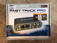 M-Audio Fast Track Pro Guitar/Vocal to Computer recorder