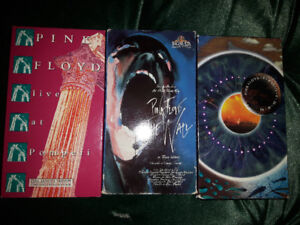 Pink Floyd live at Pompeii plus Pulse and The Wall VHS tapes