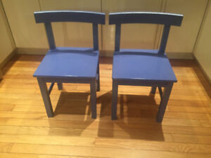 2 IKEA KIDS WOODEN CHAIRS