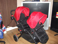 Double Contours Options Tandem Stroller - Red