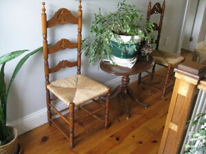 2 LADDER BACK CHAIRS, EXCELLENT CONDITION