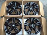"ORGINAL GENUINE 2016 BMW 18"" M TECH BLACK EDITION ALLOY WHEELS- 1 SERIES 2 SERIES"