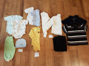 Baby boy onesies tops and pants $15