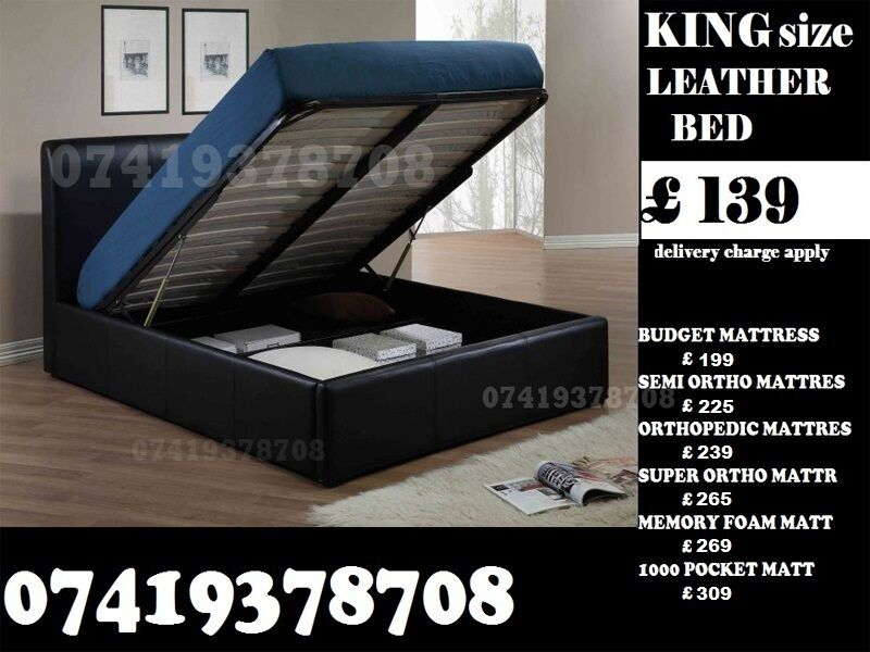 King SIZE LEATHER STORAGE BED FRAMEin Iver, BuckinghamshireGumtree - A WIDE RANGE OF FURNITURES IS AVAILABLE FOR SALE AT VERY CHEAP PRICES QUICK SAME OR NEXT DAY DELIVERY AVAILABLE ALL PRODUCTS ARE BRAND NEW AVAILABLE AT WHOLE SALE RATES FOR ANY DETAIL REGARDING PRODUCT FEEL FREE TO CONTACT ON NUMBERS GIVEN IN IMAGES