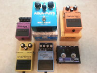 MULTIPLE Pedals for Sale Flanger, Delay, Overdrive, Chorus