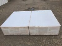 Double divan bed base and bedside table