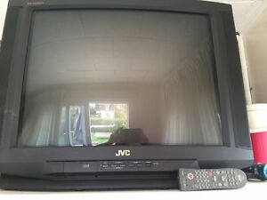"27"" JVC TV with remote"