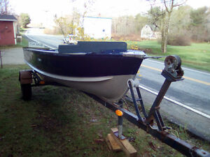 Boat and motor trailer
