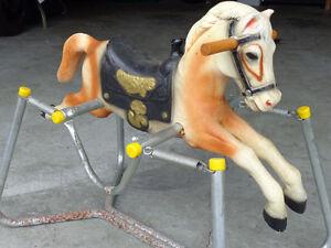 Vintage Antique Child's Wonder Rocking/Spring Bouncy Toy Horse