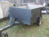 Utility Trailer [will Tilt] 4 ft x 6ft x 23 inch sides, new tire