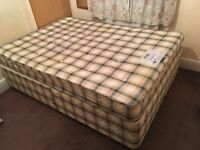 Double bed with mattress in excellent condition