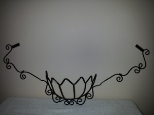 Black iron Wall Plant Hanger ::  NEW : Brackets included