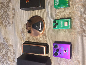 Joe bonamassa pedals, pickups with wiring harness,  strap