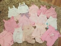 Large baby girl bundle to fit 0-3 months in like new condition