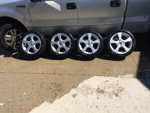 225/45R17 94R winter tires & rims for VW, Audi, Volvo, or BMW