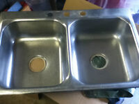 stainless steel sink double