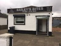Hot food premises lease for sale