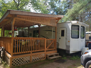 Trailer package . 40 ft. Bungalow trailer and 30ft.covered deck