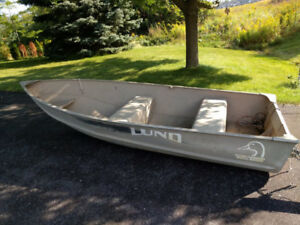 12' Lund Tinny with 9.9 Evinrude 2-stroke