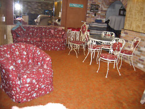 TABLE AND CHAIRS AND SOFA