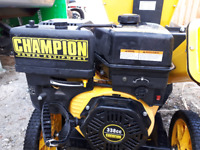 Brand new wood chipper and  leaves never been use