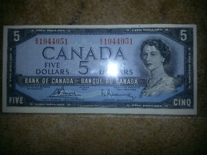 LOOKING FOR OLD CANADIAN PAPER MONEY FROM 1988 OR EARLIER. London Ontario image 7