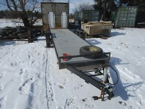 1986 Starcraft 20' tandem 2 place sled or Utility Trailer