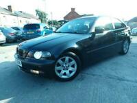 2002 BMW 3 Series 316ti SE 3dr, MOT 12 MONTHS, HPI CLEAR HATCHBACK Petrol Manual