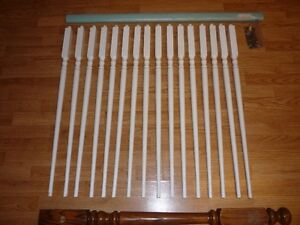 Stair pieces (ballisters, wall newel post, small railing)