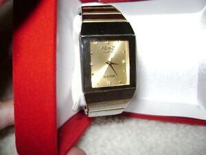 Seiko Kinetic Watch ,Silver and Gold Band ( perfect)
